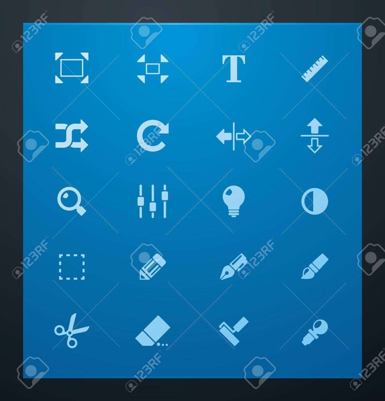 Universal glyphs 3. Photo set Stock Vector - 11674547