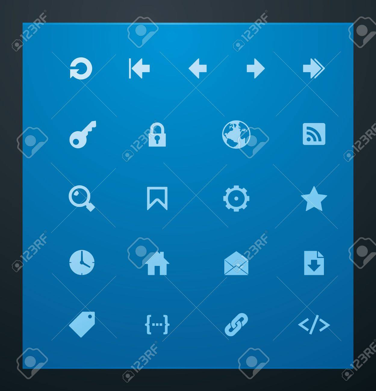 Universal glyphs 7. Web icons Stock Vector - 11674545