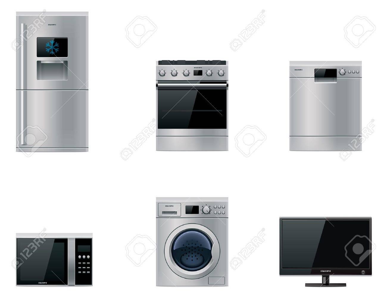Vector major appliances set Stock Vector - 12284265