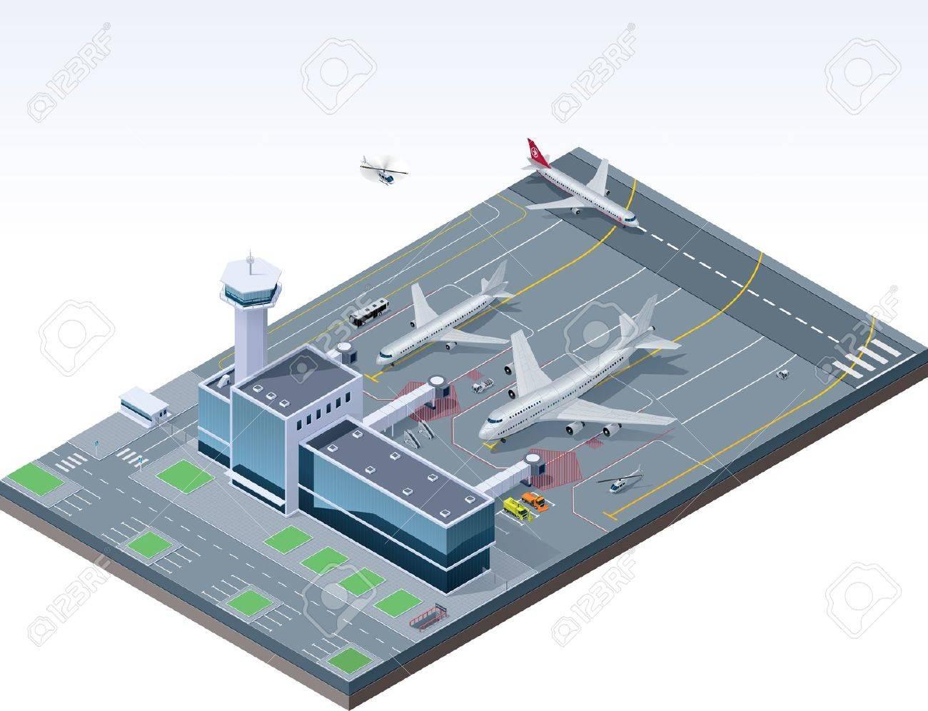 Vector isometric airport Stock Vector - 13125178
