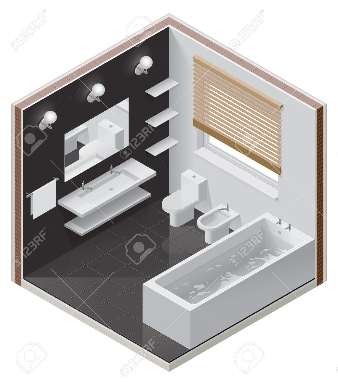 isometric bathroom icon Stock Vector - 13524306