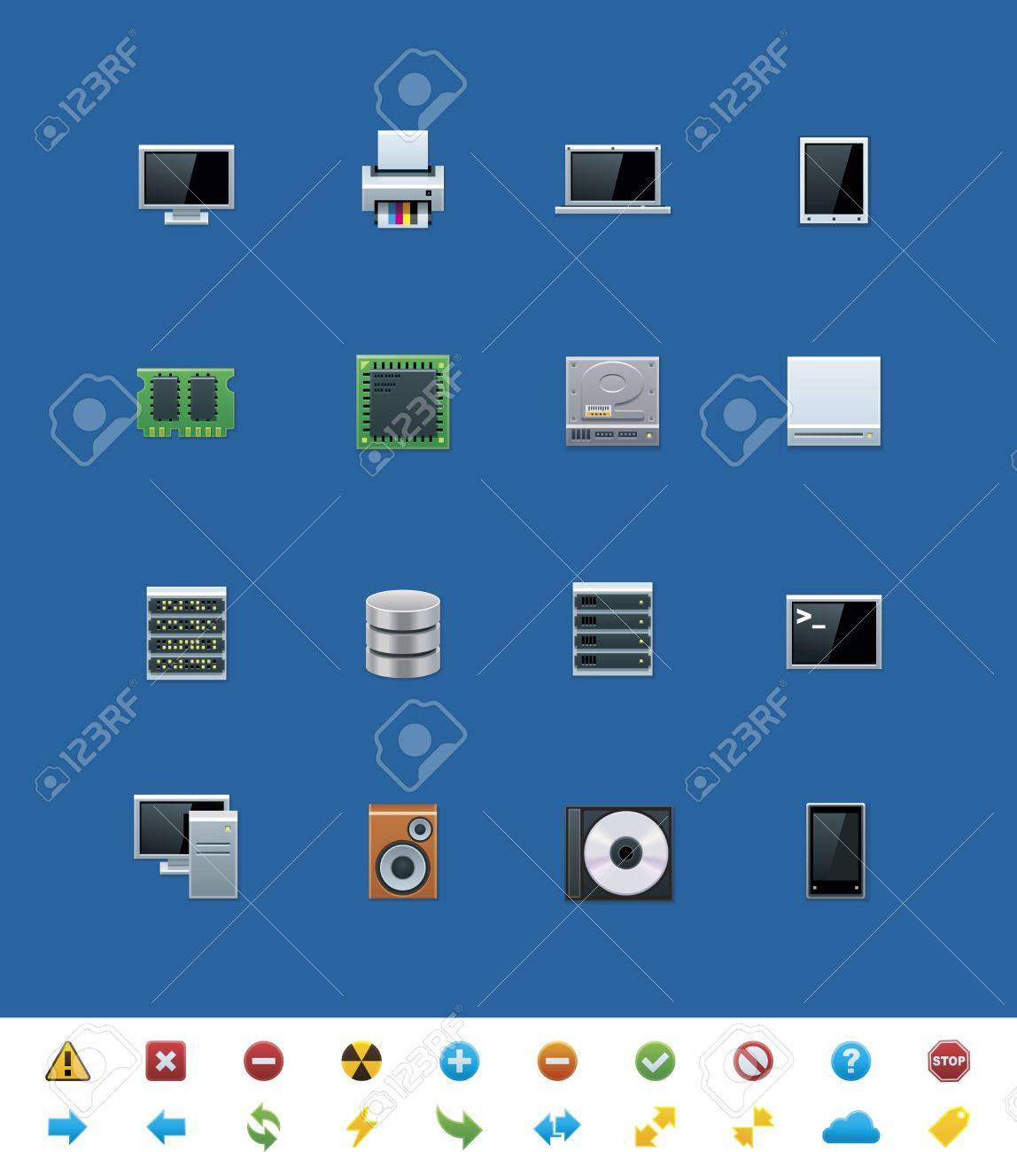 common website icons. Hardware Stock Vector - 14947014