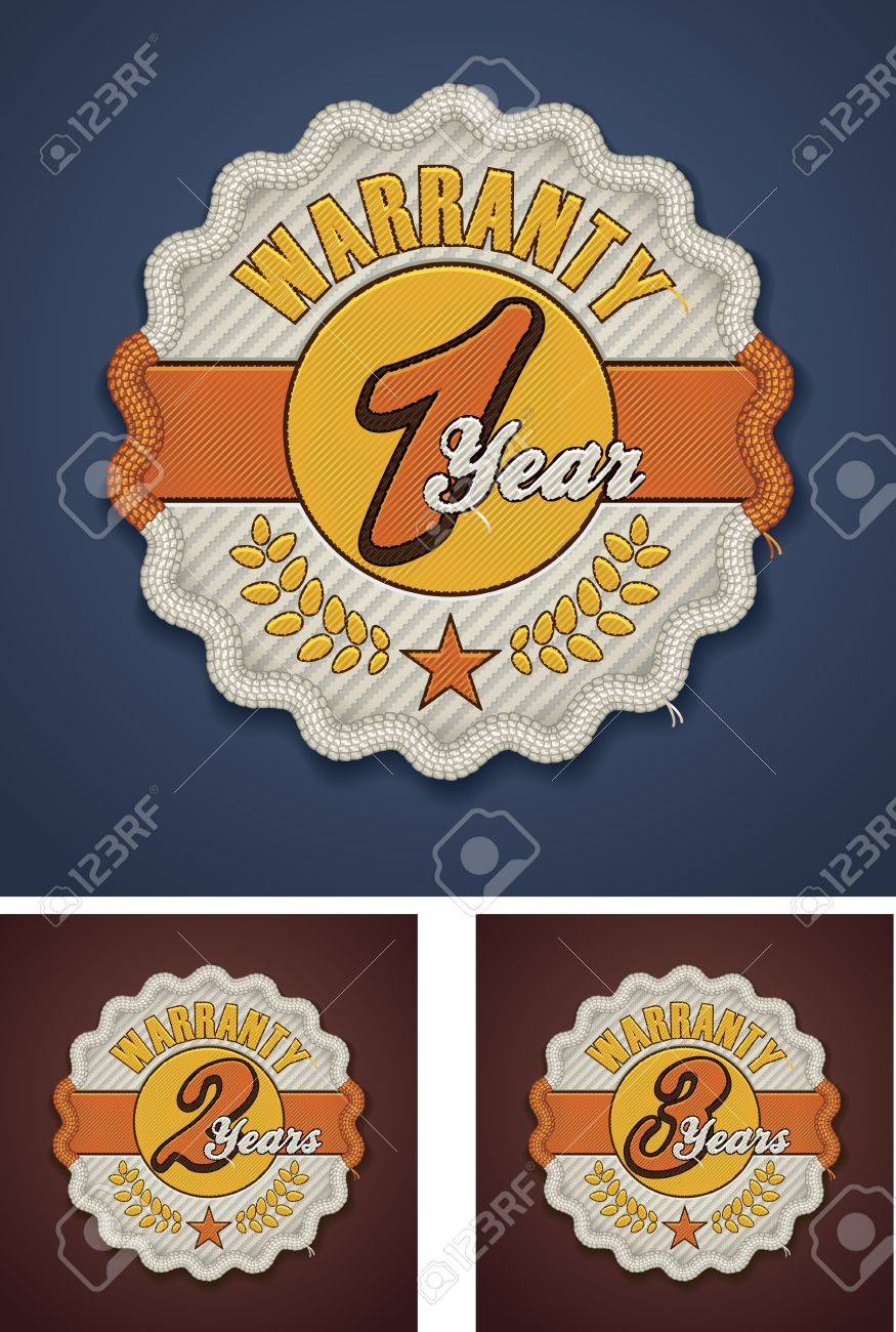 Vector warranty term fabric badge Stock Vector - 15543922