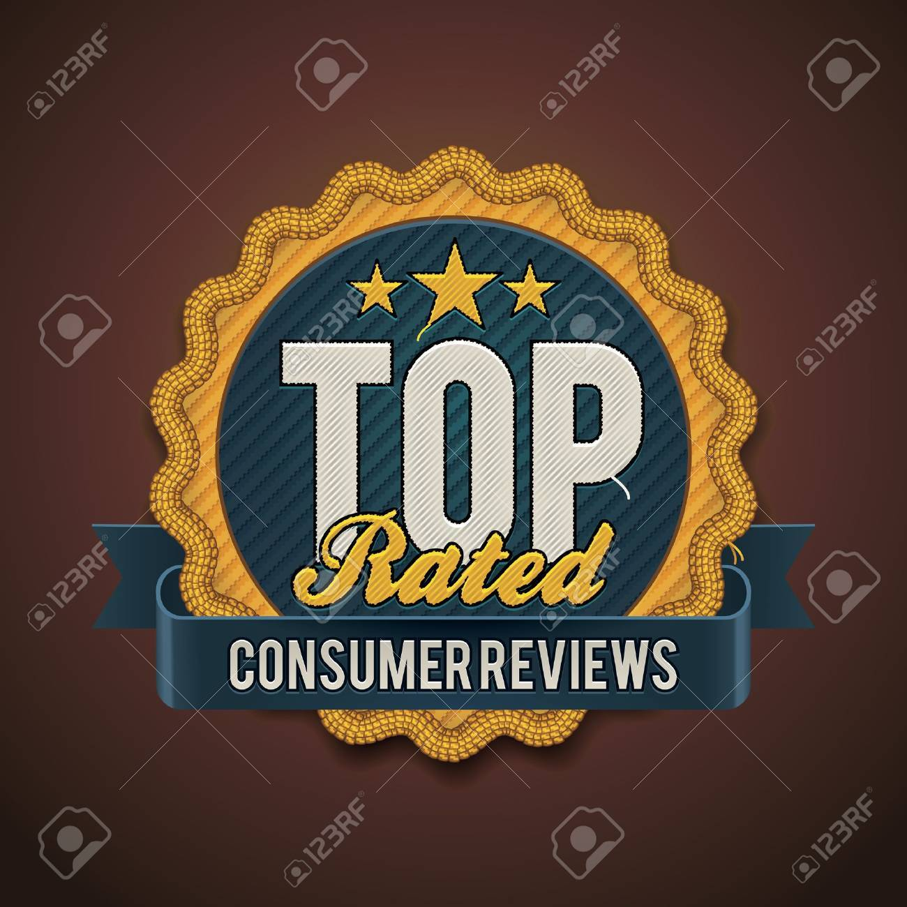 top rated badge Stock Vector - 15711956