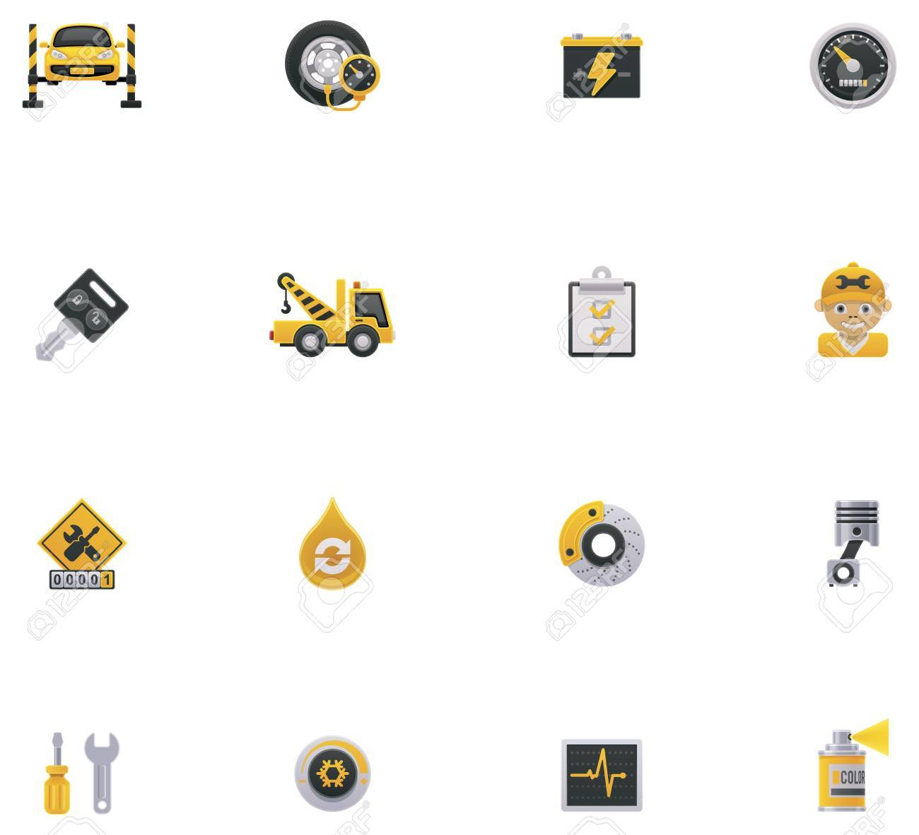 Car service icon set  Part 1 Stock Vector - 18860227