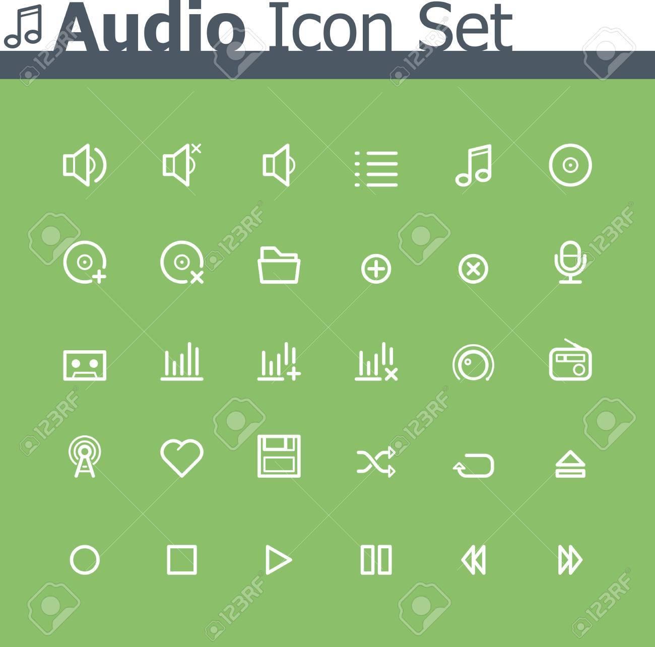 Audio icon set Stock Vector - 24174508