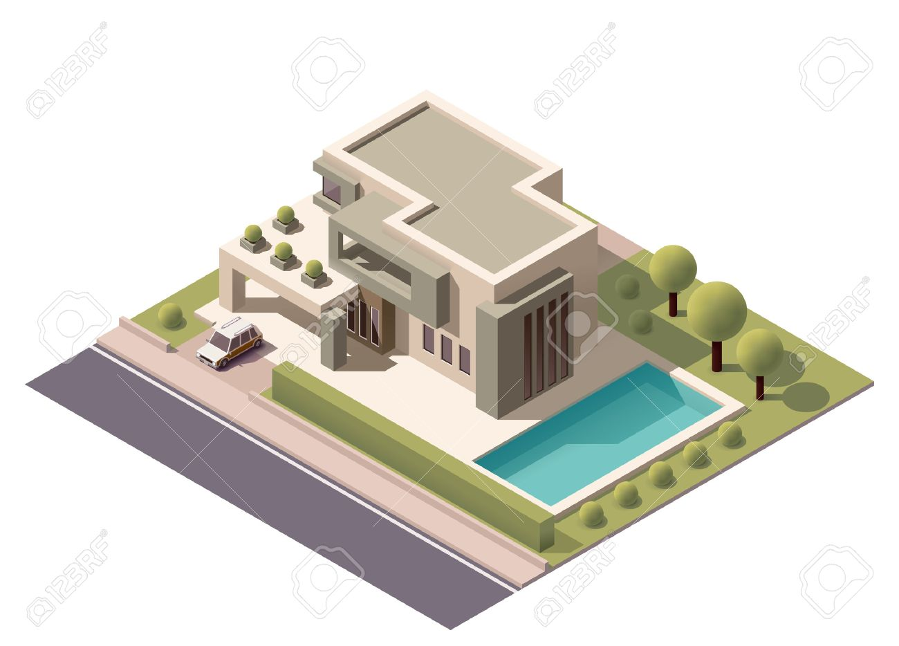 Isometric icon representing modern house with backyard royalty free isometric icon representing modern house with backyard stock vector 41653322 ccuart Choice Image
