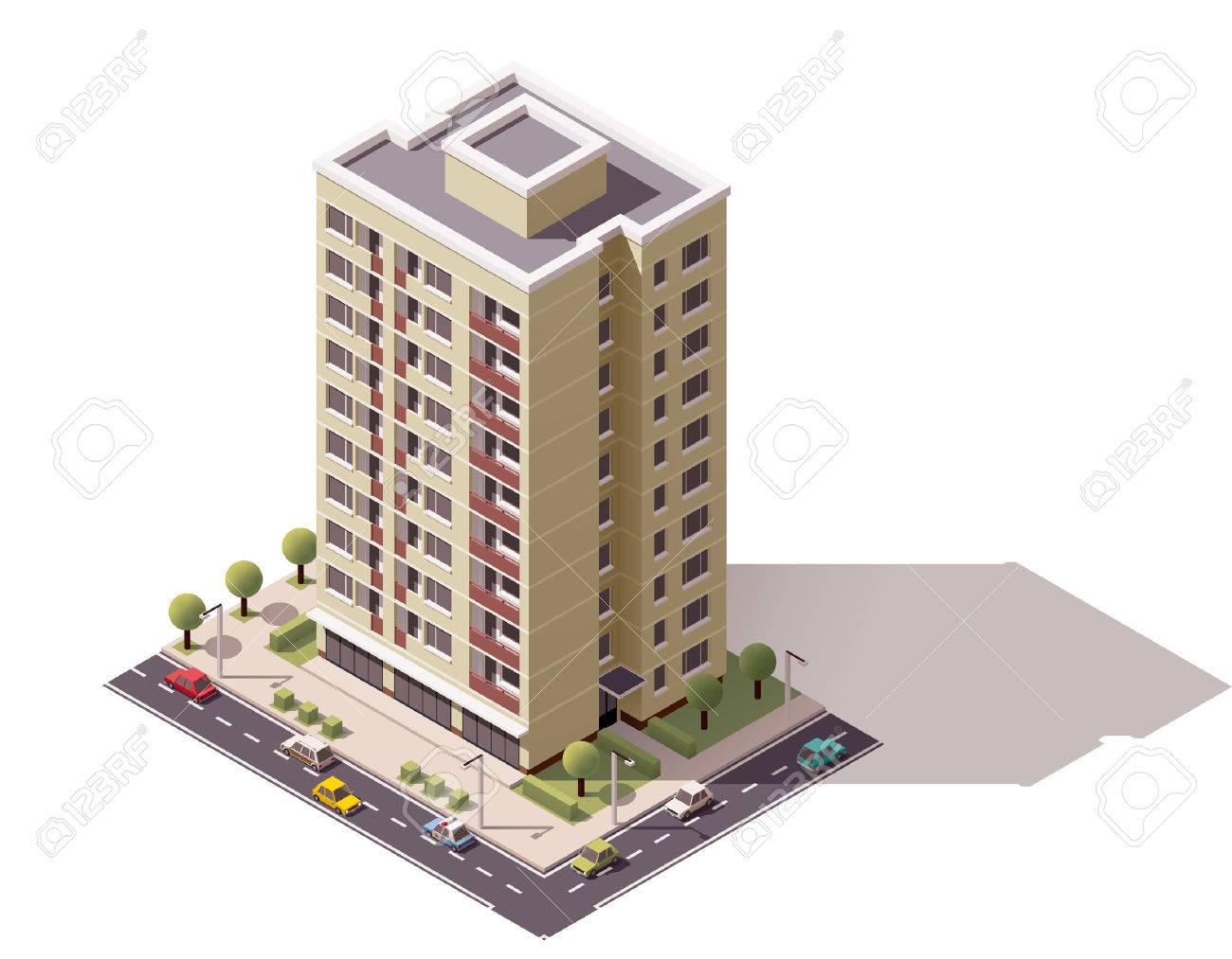 Isometric icon representing city building - 52548981