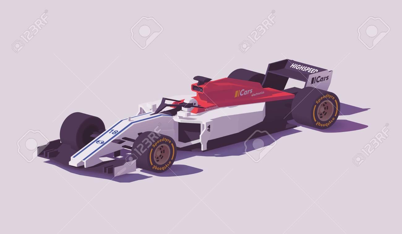 Vector low poly formula racing car - 94898487