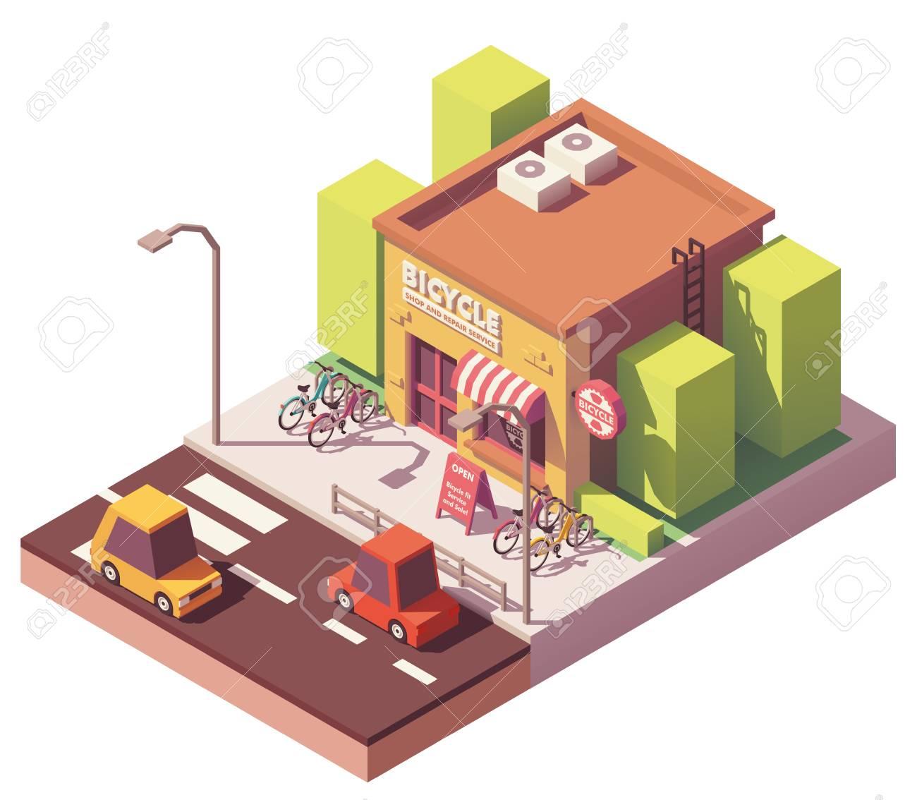 Vector isometric bicycle shop - 101668354