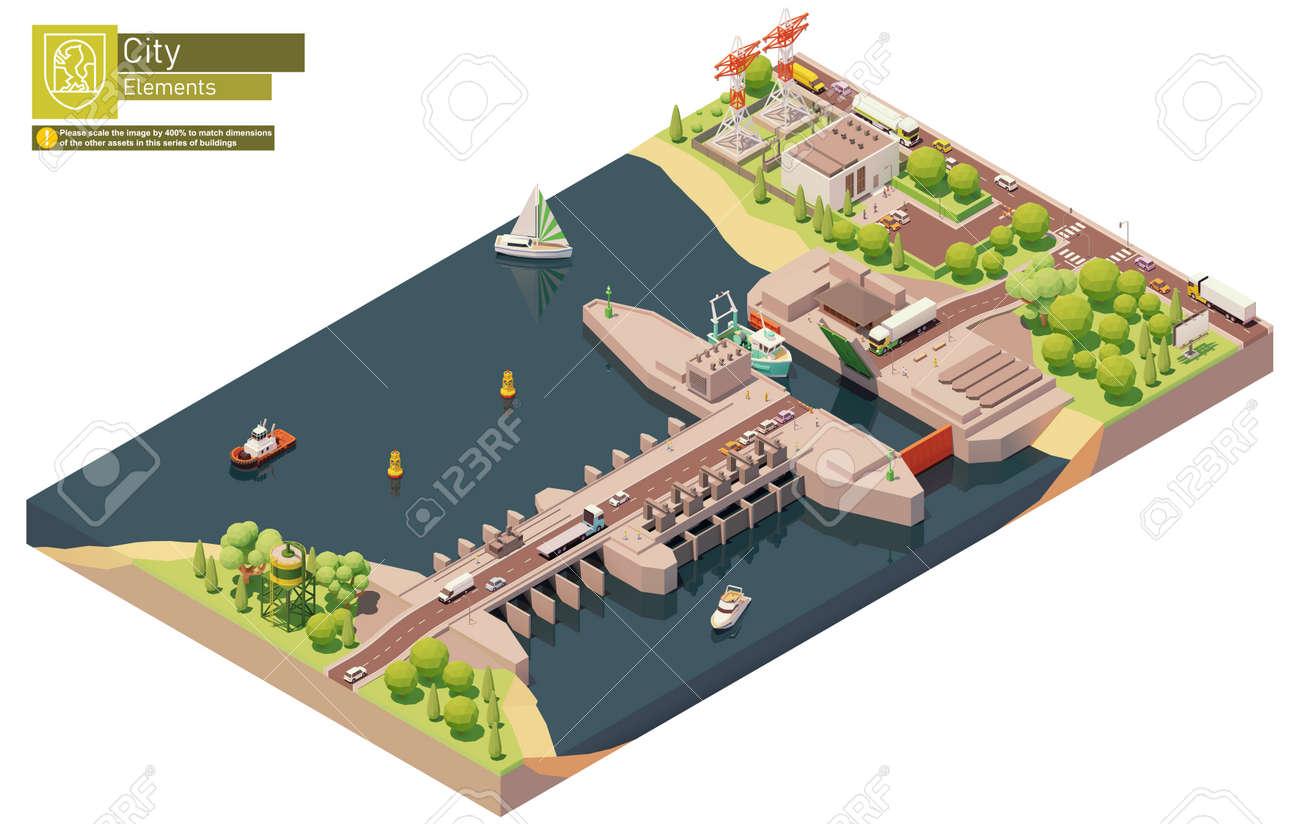 Vector isometric tidal power plant - 170809761