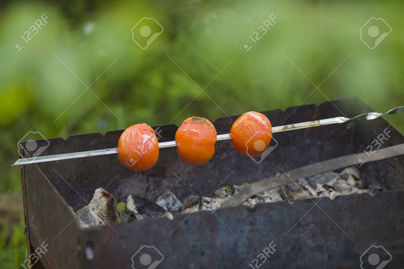 tomatoes on the grill country vacation stock photo picture and