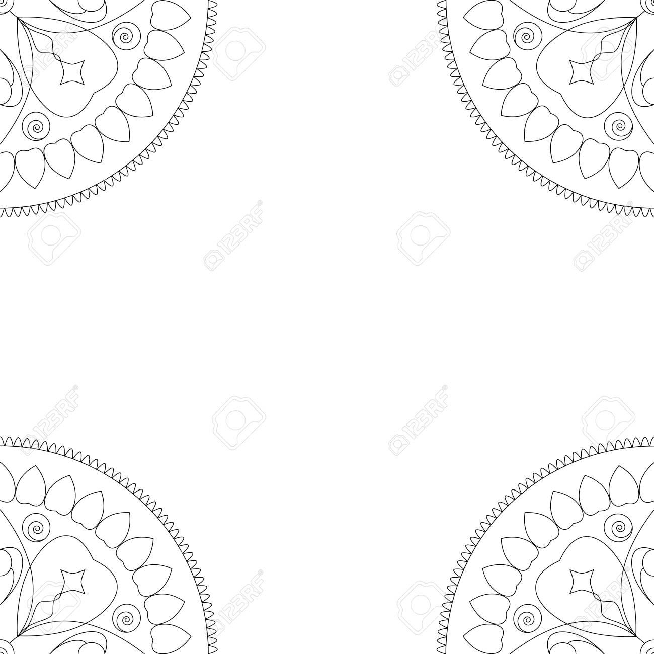 Capa Do Livro Para Colorir Ou Ilustracao Quadrada Do Fundo Com