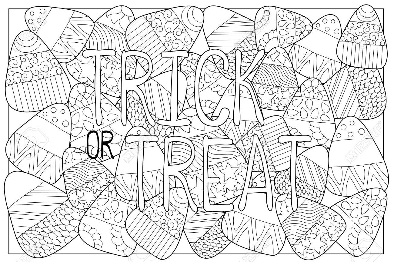 Envolturas De Dulces Para Colorear. Collage De Dibujar Un Caramelo ...