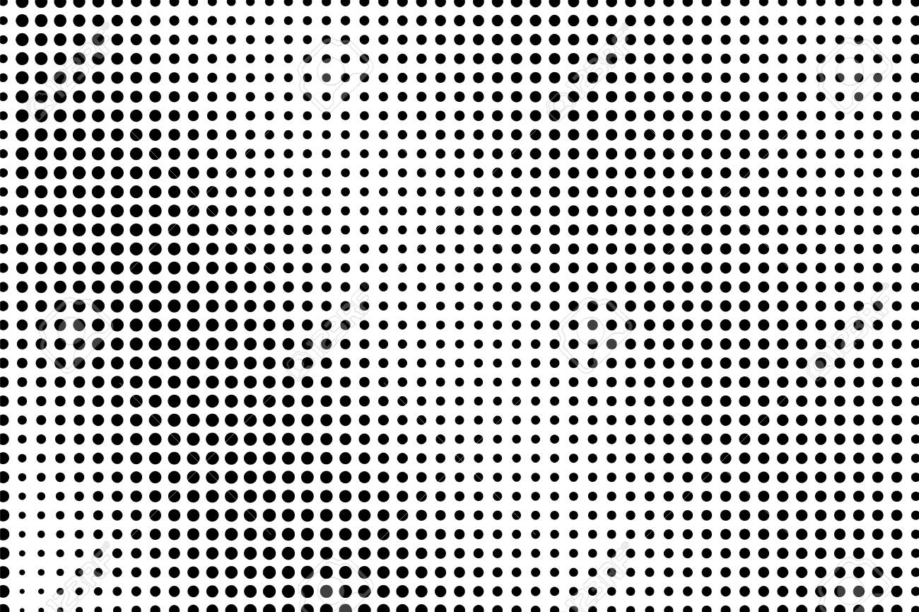 Black and white dotted halftone vector background  Regular halftone
