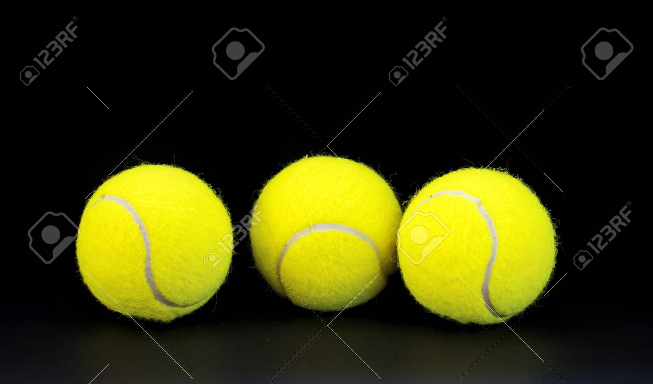 Yellow Felt Tennis Balls On Black Background Tennis Ball Photo Stock Photo Picture And Royalty Free Image Image 94059118