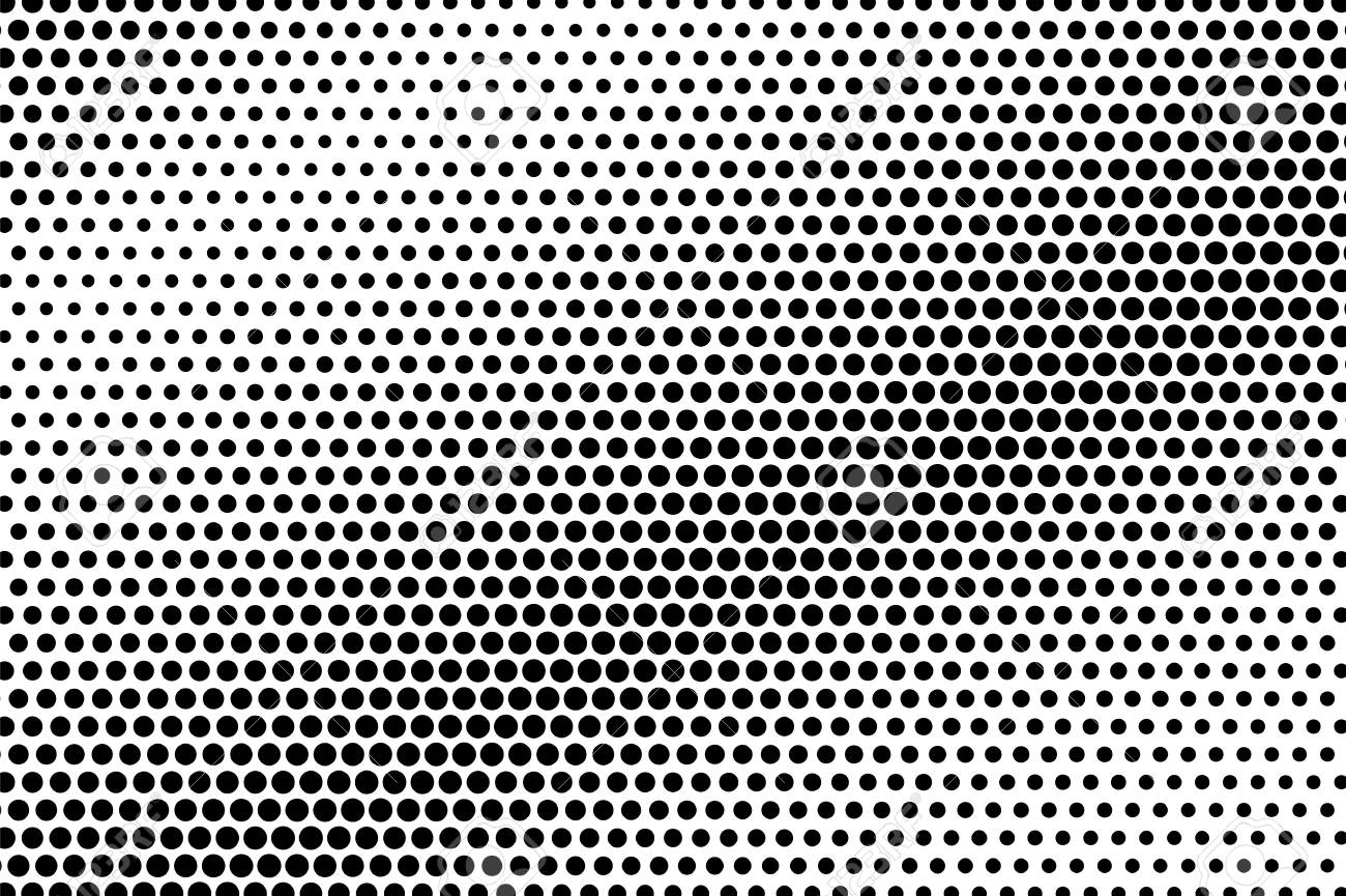Black And White Dotted Texture Diagonal Halftone Vector Background