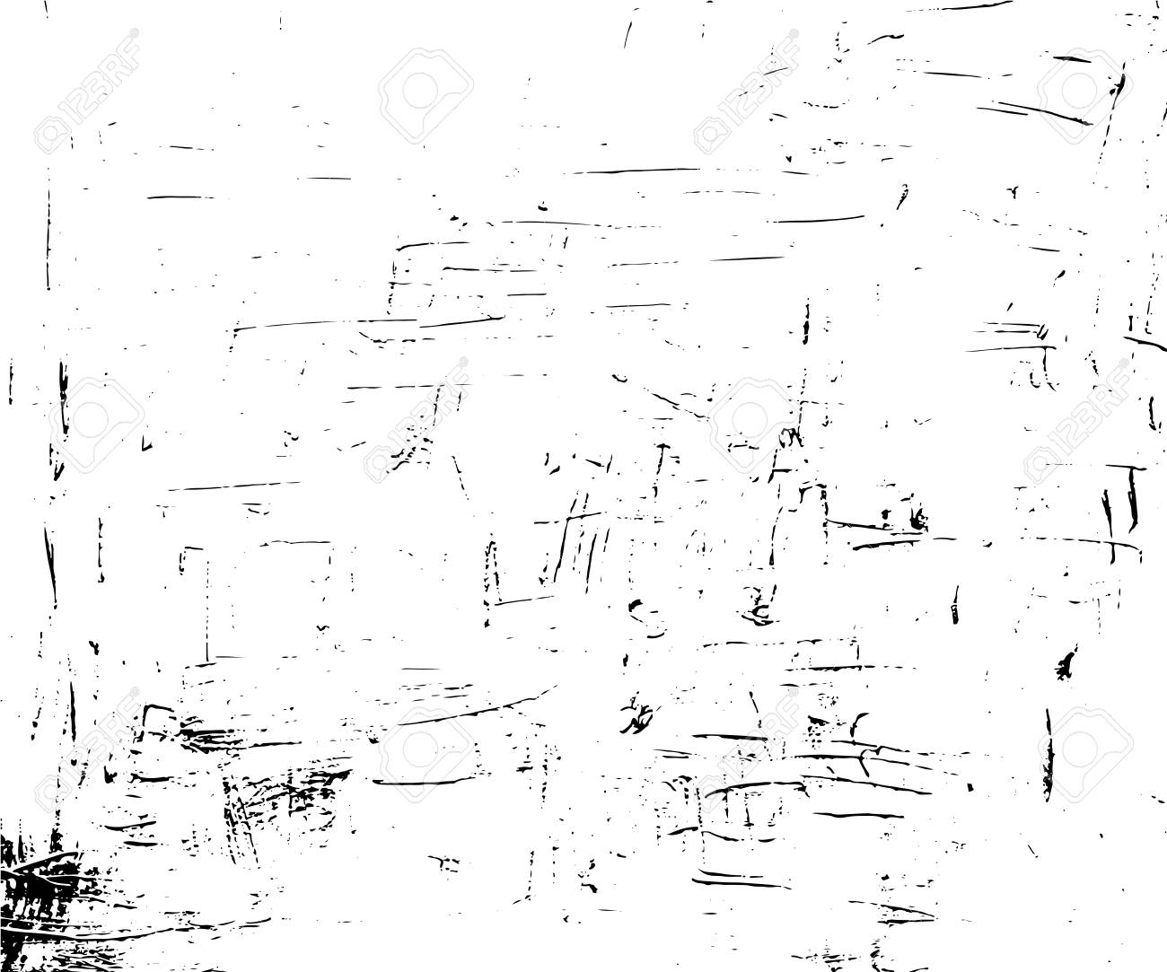 Obsolete vector texture in monochrome palette  Paint stroke or