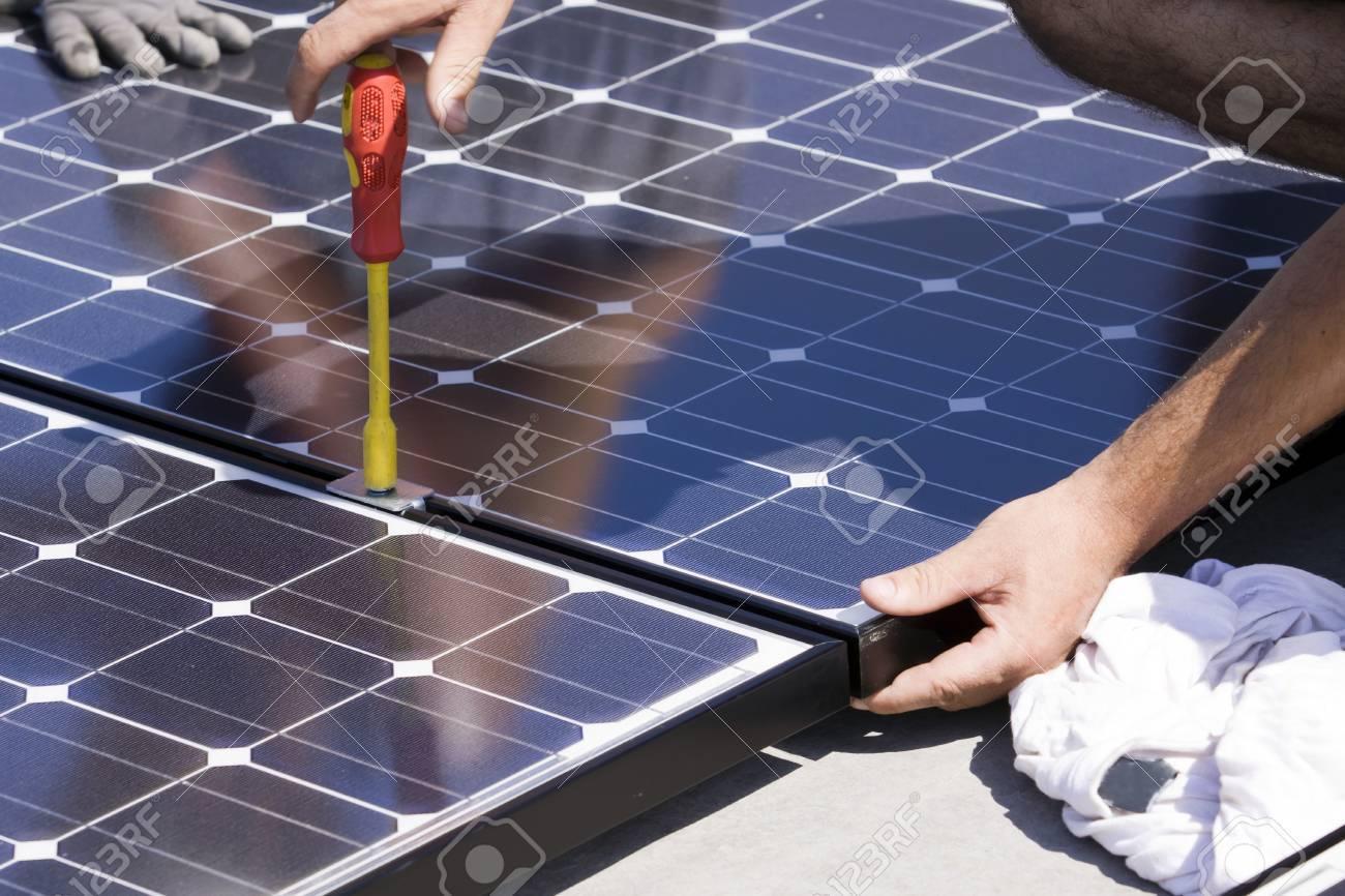 panneaux photovoltaïques Banque d'images - 7827747