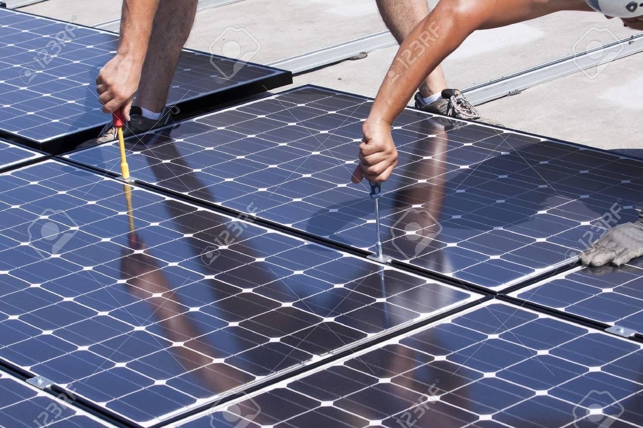 panneaux photovoltaïques Banque d'images - 7827751