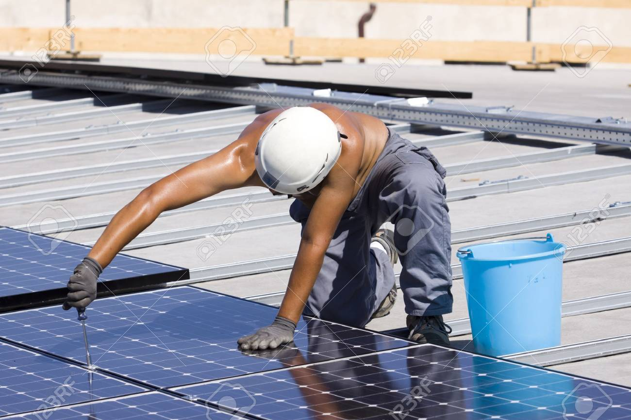 panneaux photovoltaïques Banque d'images - 7827691