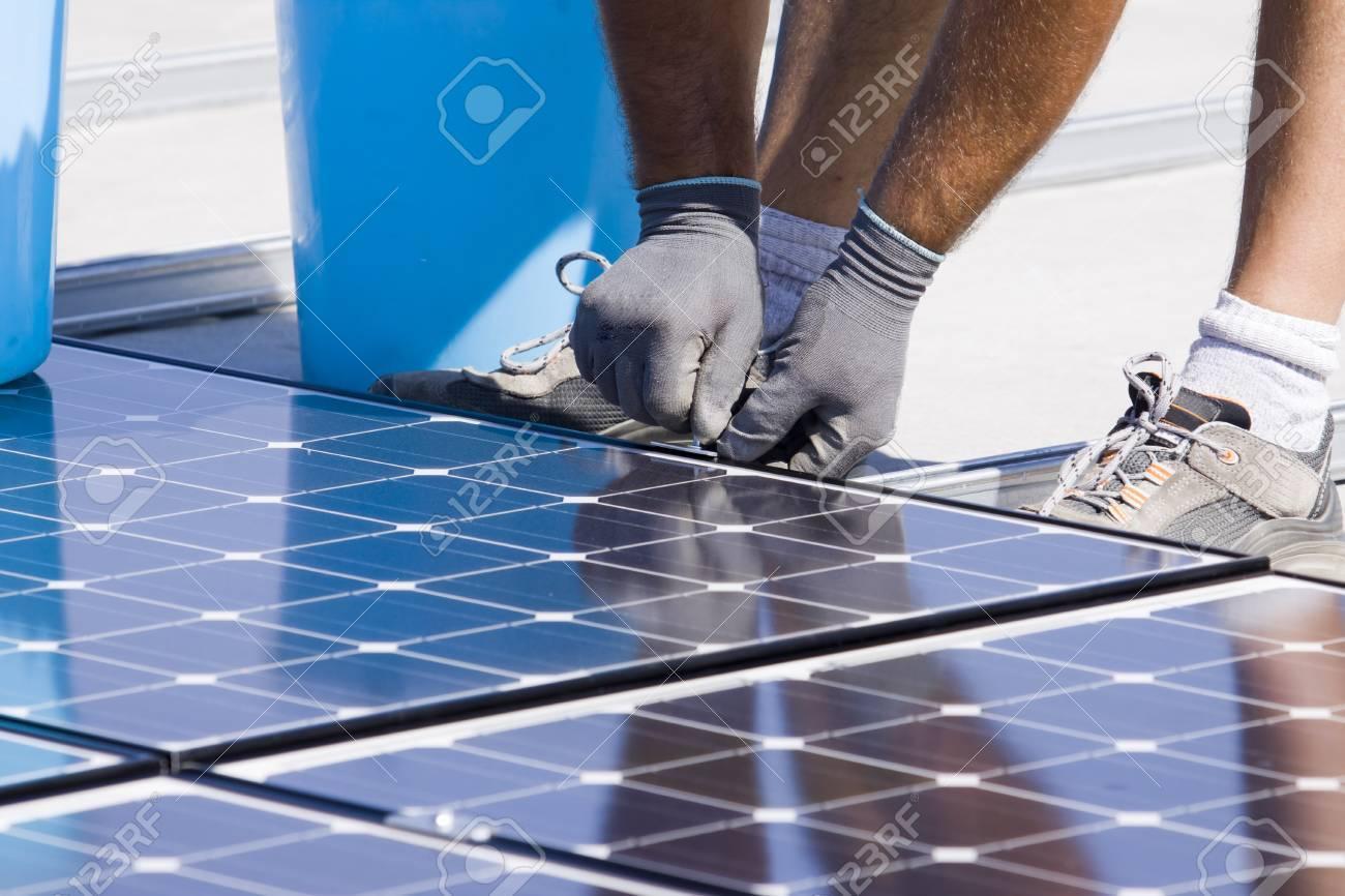 panneaux photovoltaïques  Banque d'images - 7827723