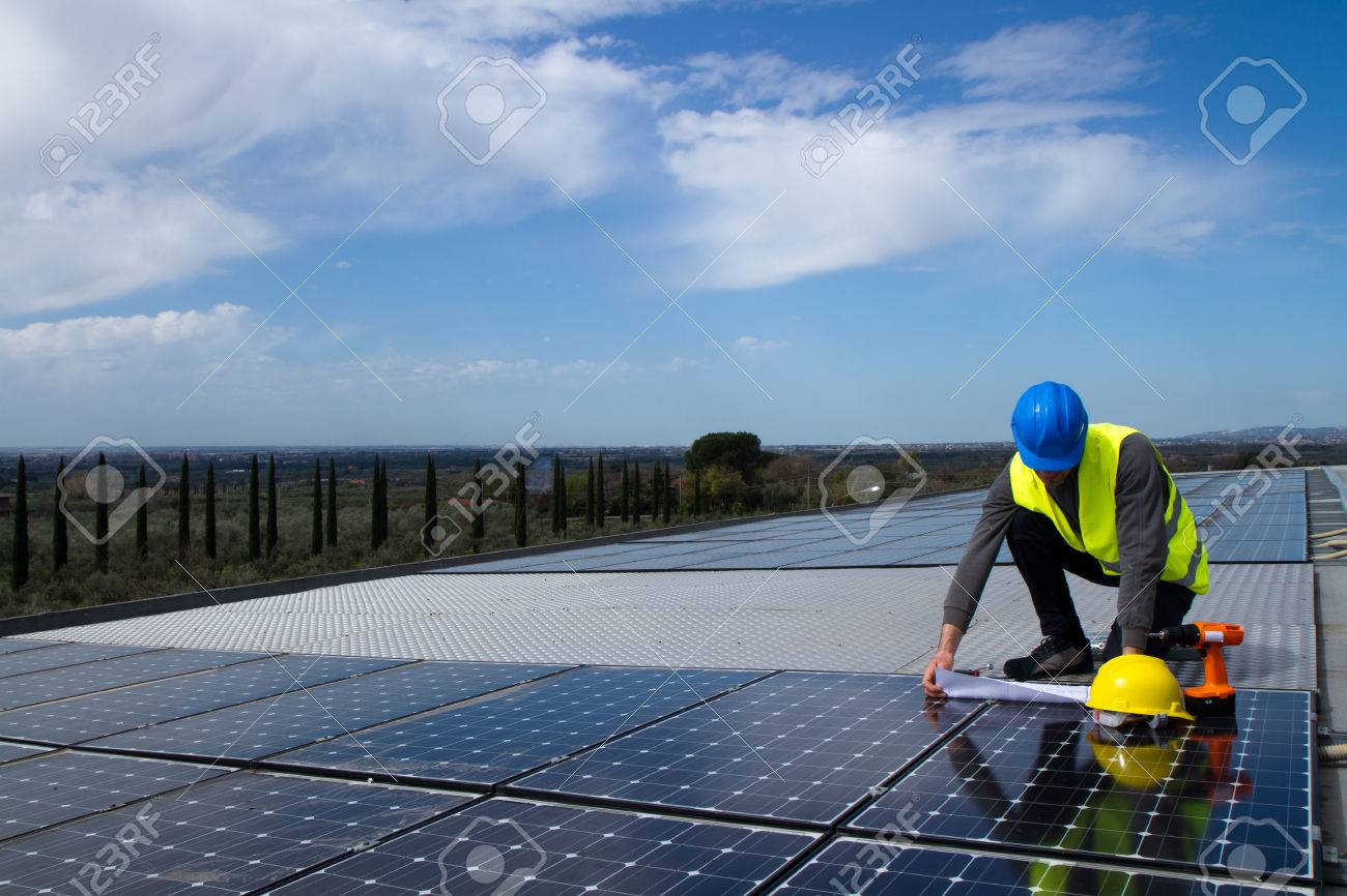 photovoltaïques Banque d'images - 38160209
