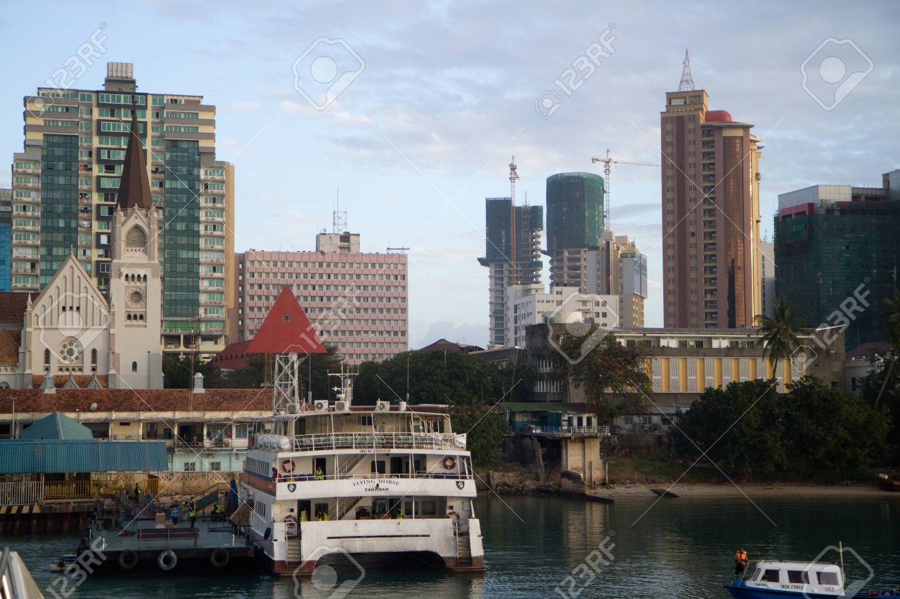 Dar Es Salaam View Form The Ferry Boat Stock Photo, Picture And ...