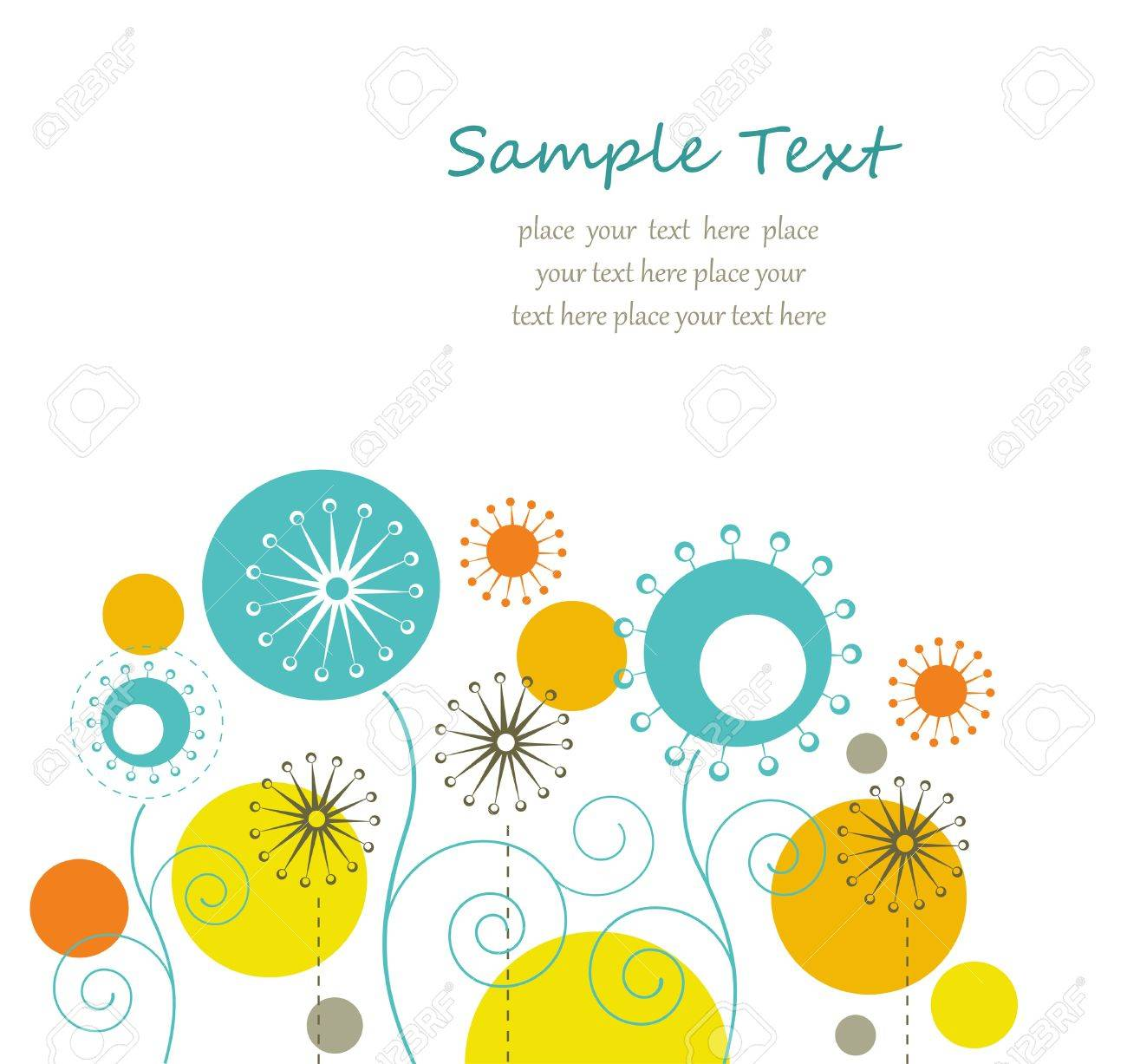 Summer floral background with text space Stock Vector - 14264228