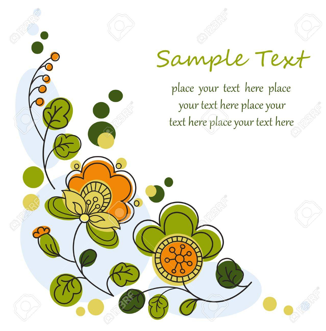Floral graphic background Stock Vector - 16113021