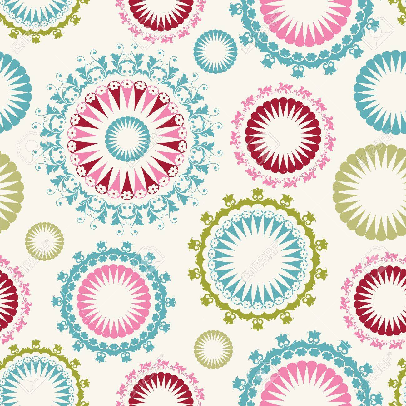 Floral background seamless pattern Stock Vector - 16853803