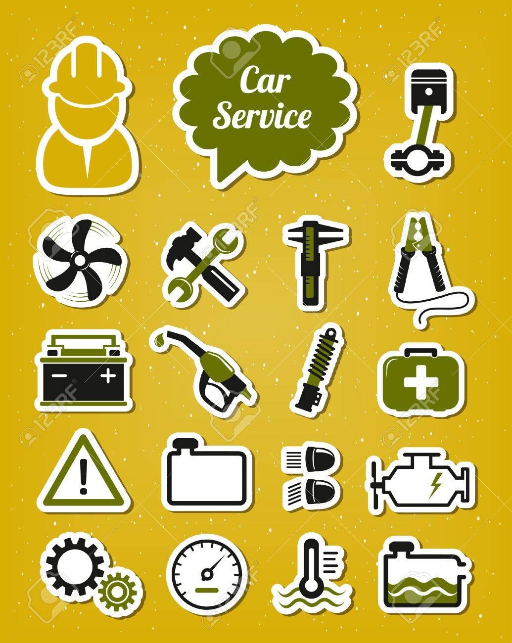 Car service icons Stock Vector - 18093333