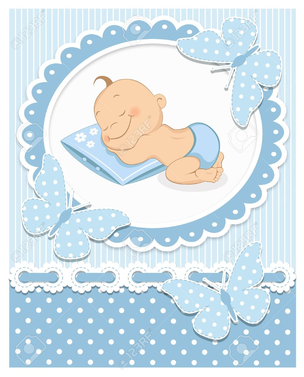 sleeping baby boy royalty free cliparts vectors and stock rh 123rf com clipart baby boy shower baby boy clipart free