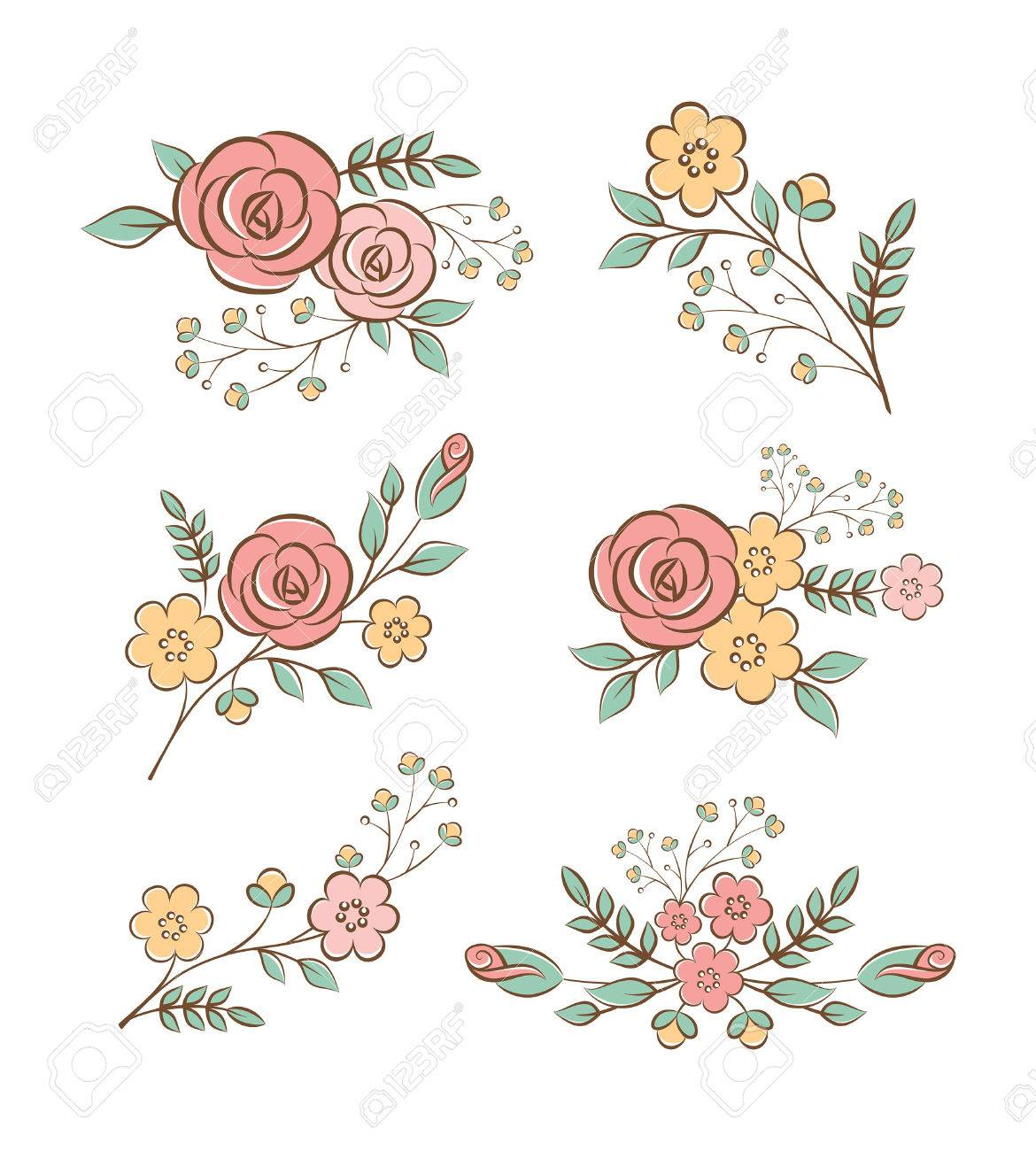 Floral design elements Stock Vector - 24347777