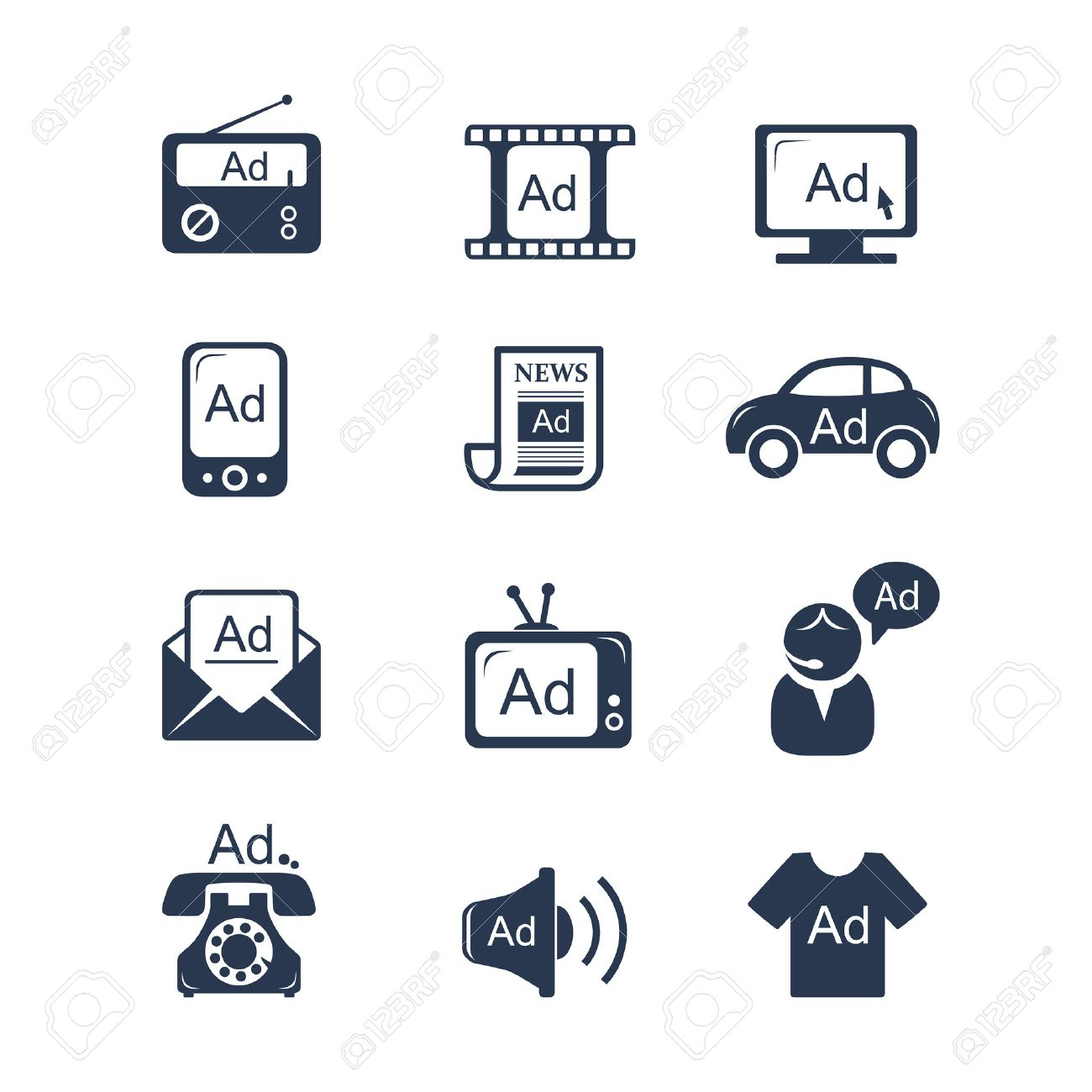 Advertisement icons set - 30595385