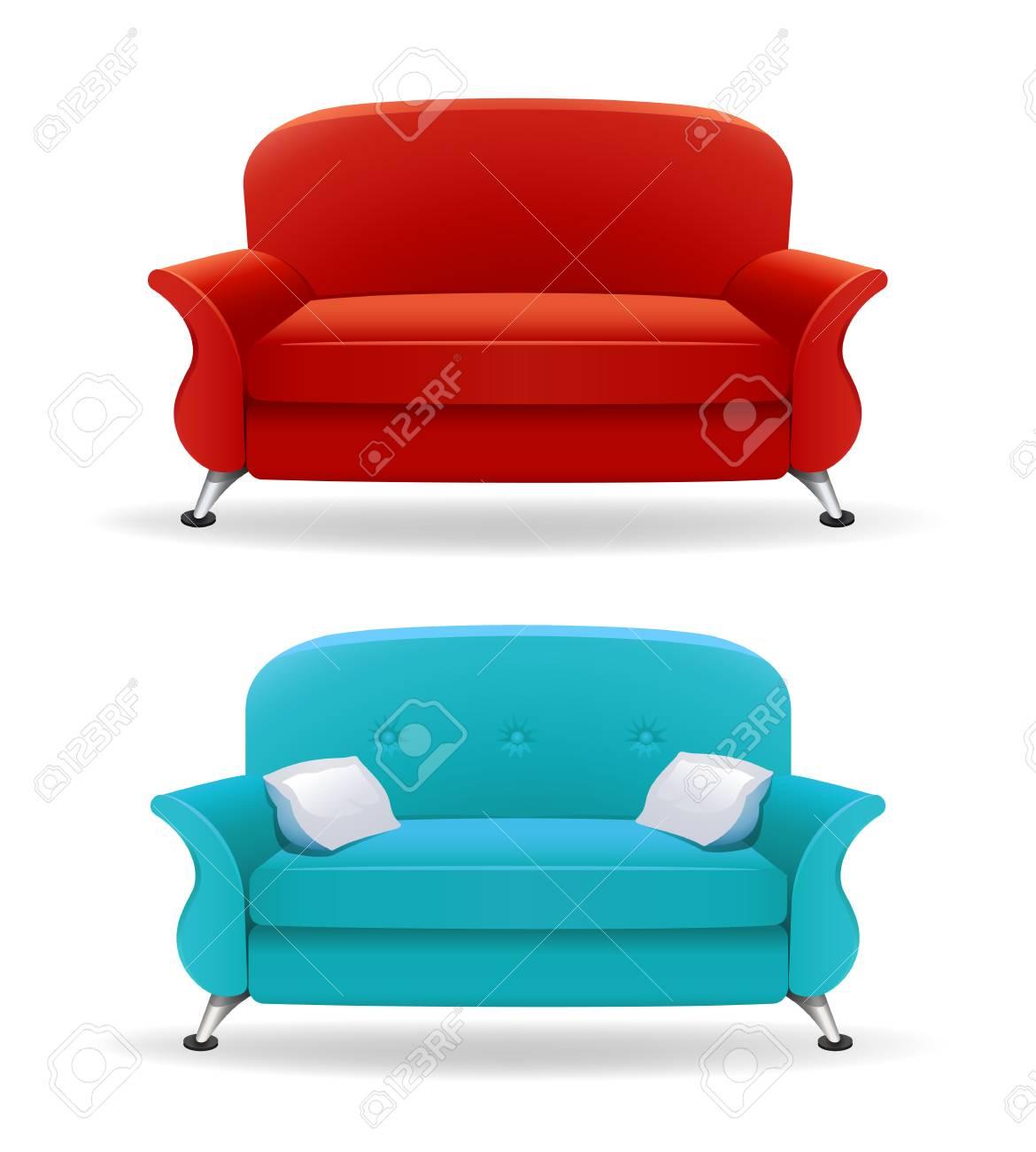 Interior design with realistic sofa - 61619005