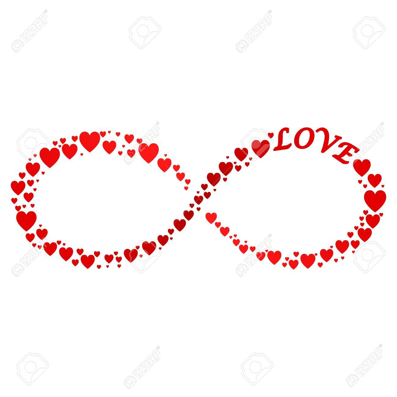 Infinity sign with hearts royalty free cliparts vectors and stock infinity sign with hearts stock vector 73904448 buycottarizona Gallery
