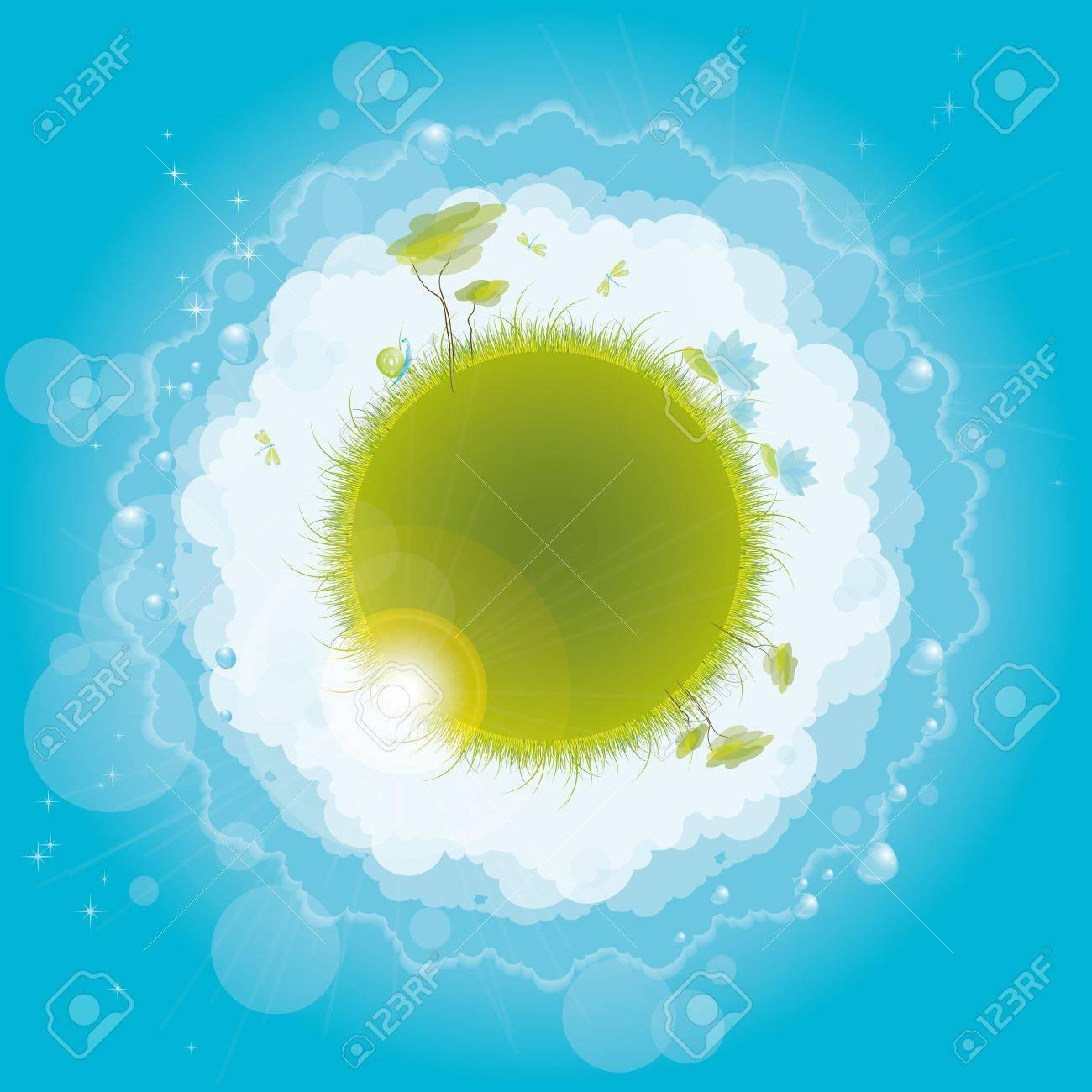 Round nature design, vector illustration, eps-10 Stock Vector - 9362481