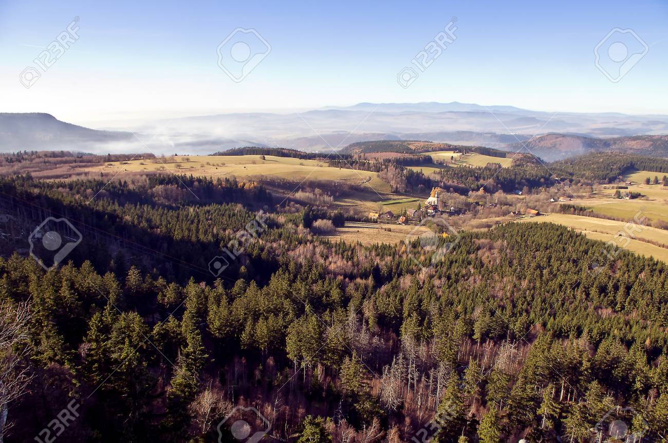 the overlook from szczeliniec mountain, in Poland Stock Photo - 13613915