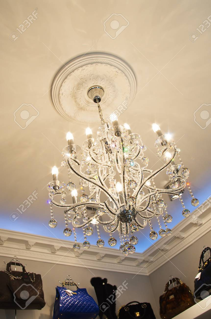 very expensive chandelier in an exclusive store Stock Photo - 13715268