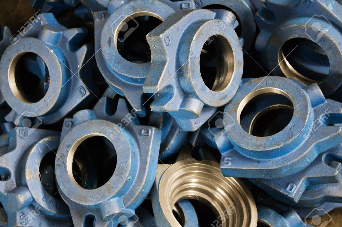 The Cast Iron Parts For Various Machines Stock Photo, Picture And ...