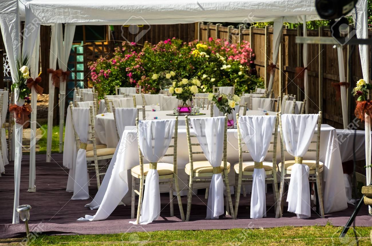 Réception De Mariage En Plein Air, Garden Party Banque D\'Images Et ...