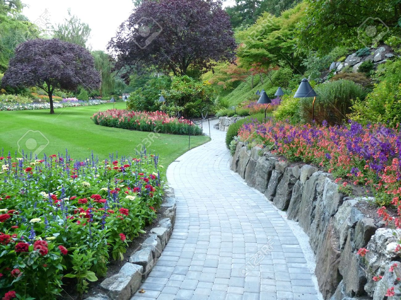 Garden Walkway Stock Photo, Picture And Royalty Free Image. Image ...