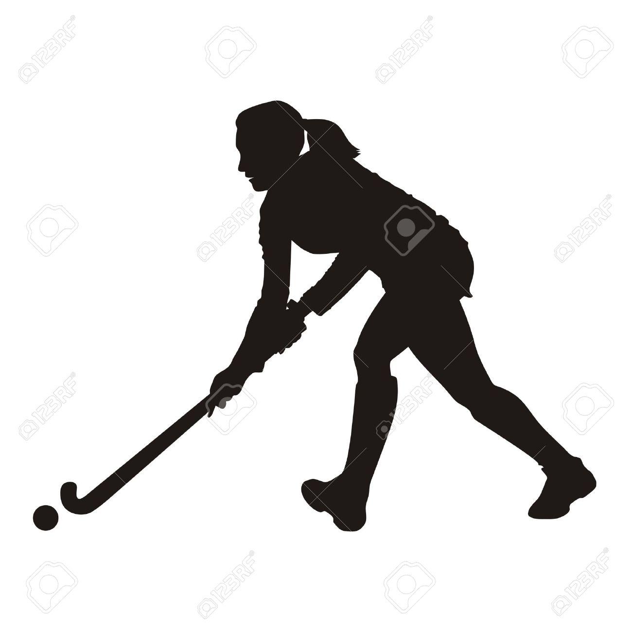 Field Hockey player silhouette Stock Photo - 10419436