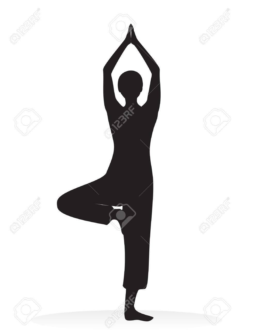 Yoga Vector Silhouette Royalty Free Cliparts, Vectors, And Stock ...