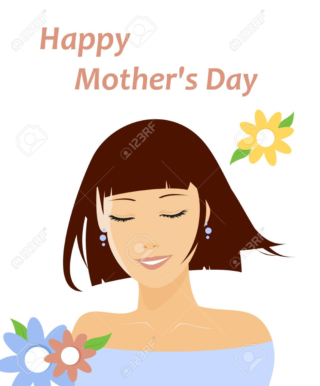 Mother s Day Card Stock Vector - 12495380