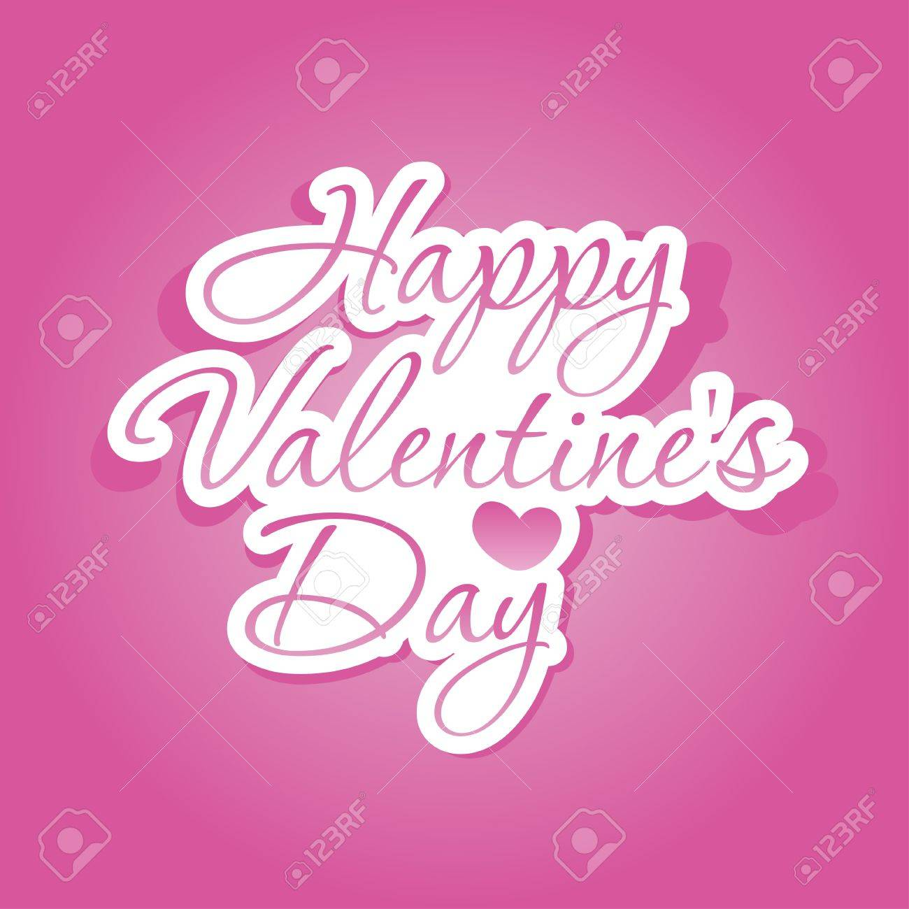Happy Valentines Day lettering Stock Vector - 15152420