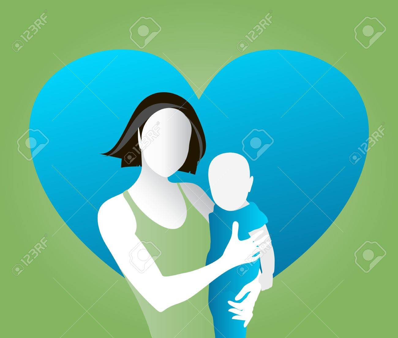Vector illustration of mother and child Stock Vector - 16573355