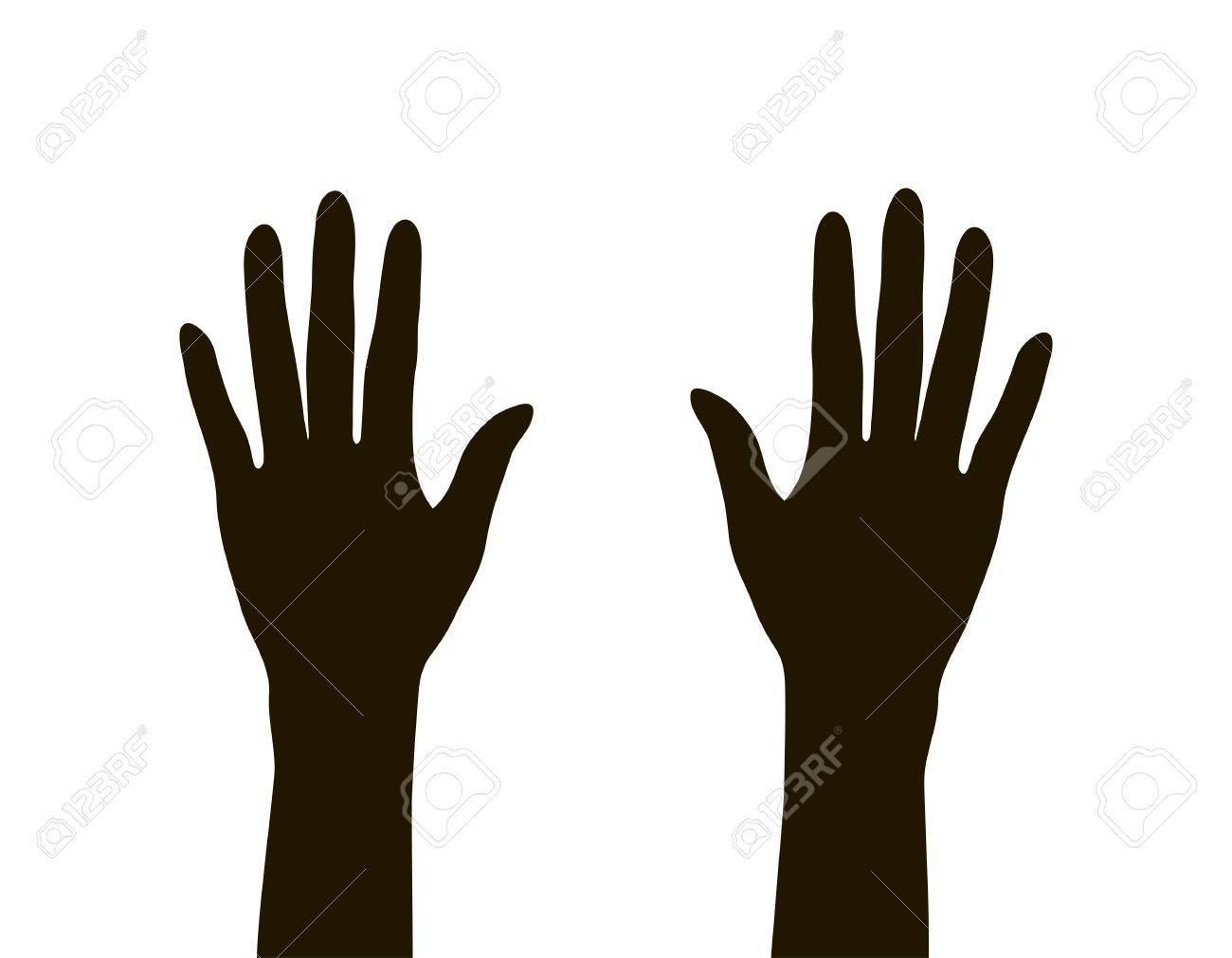 hands silhouette isolated on white background, vector illustration Stock Vector - 20911879