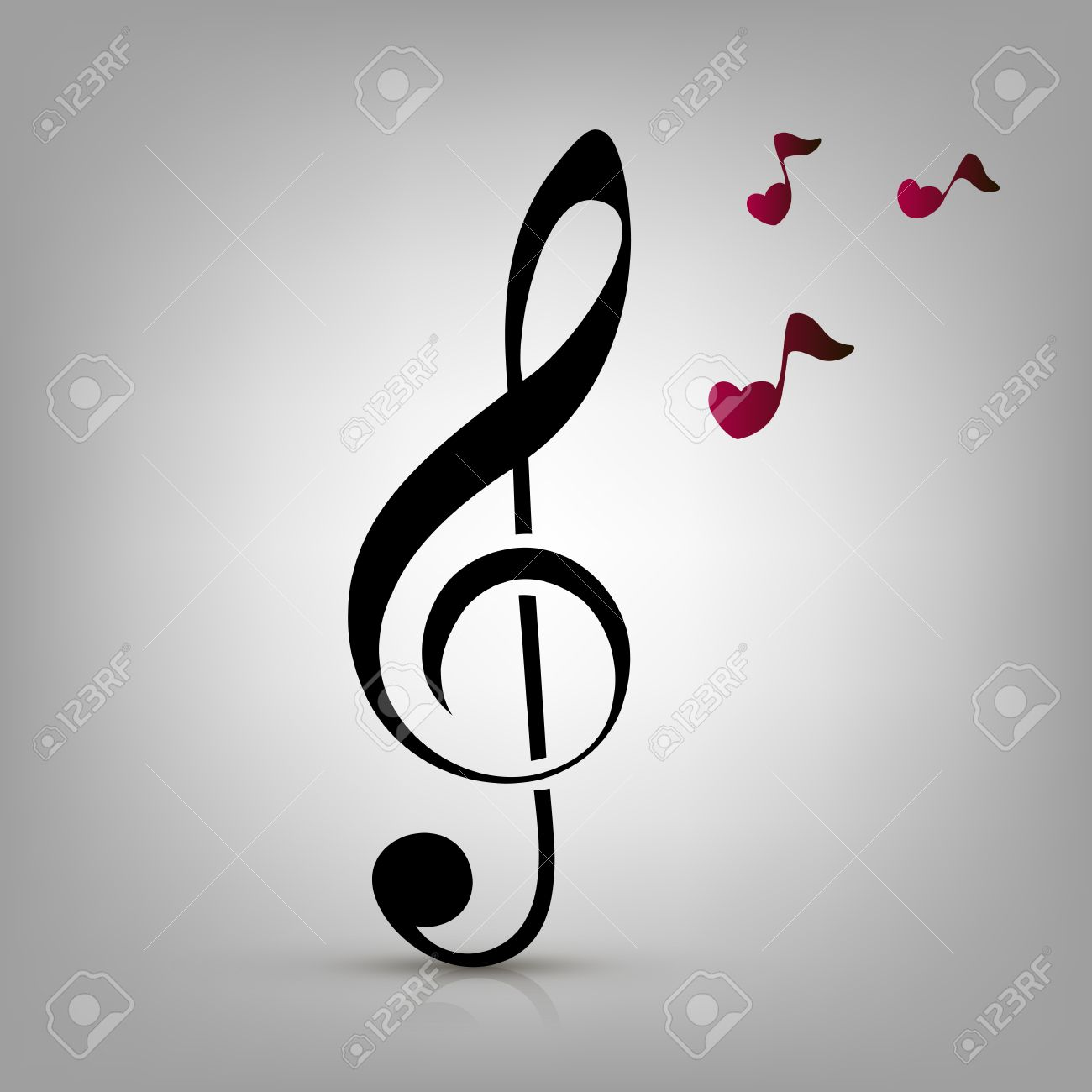 Music Clefs Heart Heart-shaped Music Notes